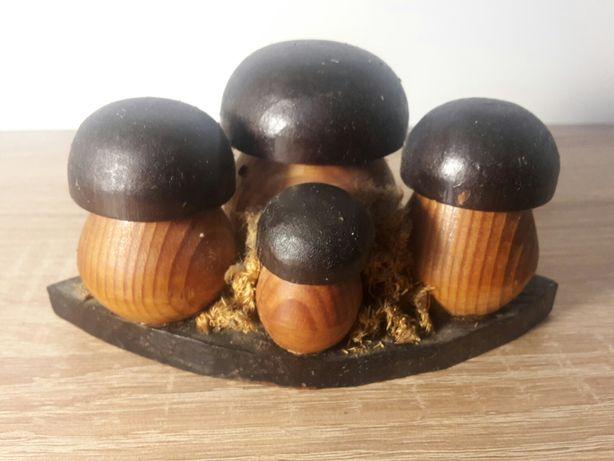 Drewniane grzybki rękodzieło ozdoba