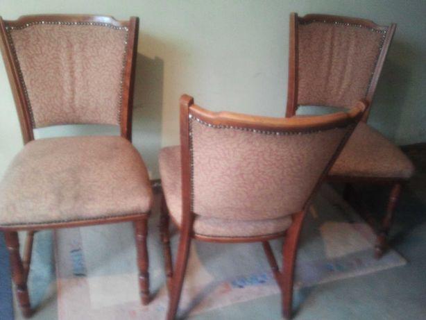 PRL Zestaw trzech krzeseł