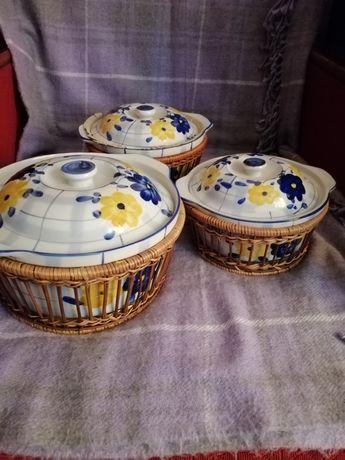 Набор кастрюль, керамическая посуда