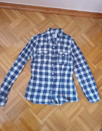Niebieska koszula w kratę