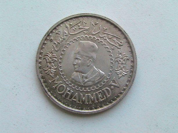 Марокко 500 франков 1376 (1956) мухаммед V Серебро