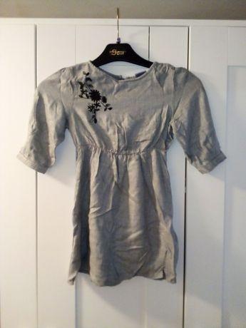 Szara sukienka 110-116