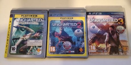Uncharted 1,2,3 na PS3 stan idealny Po Polsku