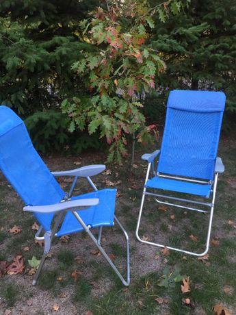 Aluminiowe krzesełka kempingowe
