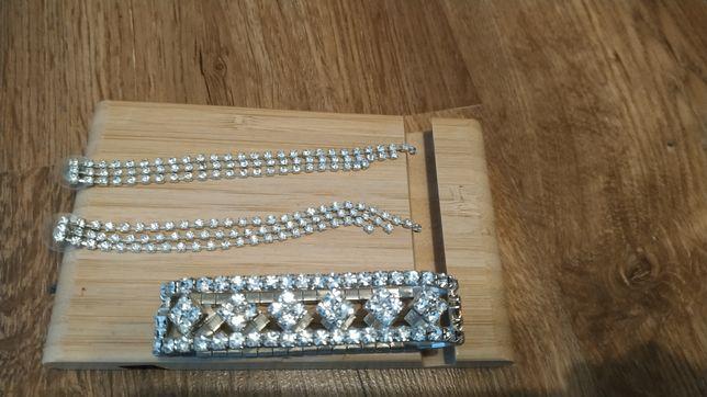 Okazja piękne kolczyki i bransoletka jak srebrne