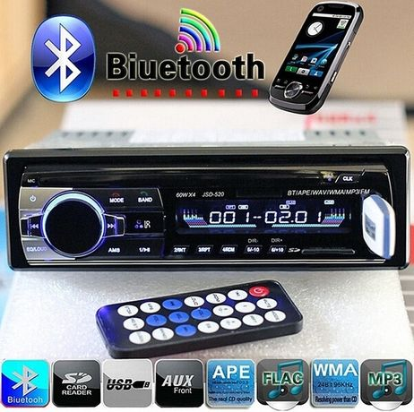Автомагнитола JSD /HD 520 4*60 w 1 din bluetooth 2 usb