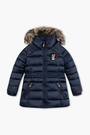 Новая куртка пальто для девочки C&A Palomino 134 Германия с минни маус