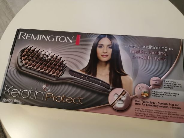 Remington keratin protect szczotka prostująca włosy
