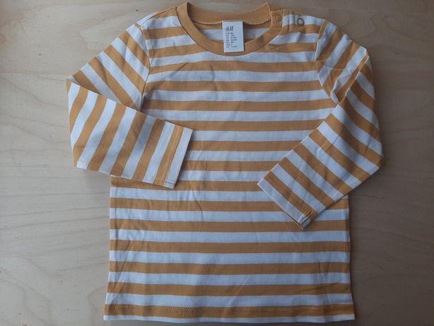 Koszulki długi rękaw Hm rozmiar 80 chłopiec