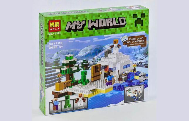 """Конструктор Bela Minecraft 10391 """"Снежное укрытие"""", 327 эл, лего"""