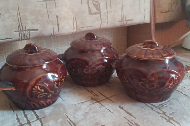 Горшочки глиняные набор горшок для выпекания