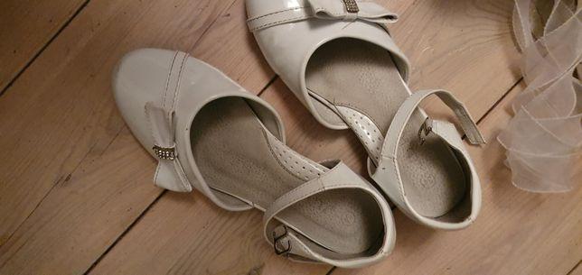Buty komunia białe 34