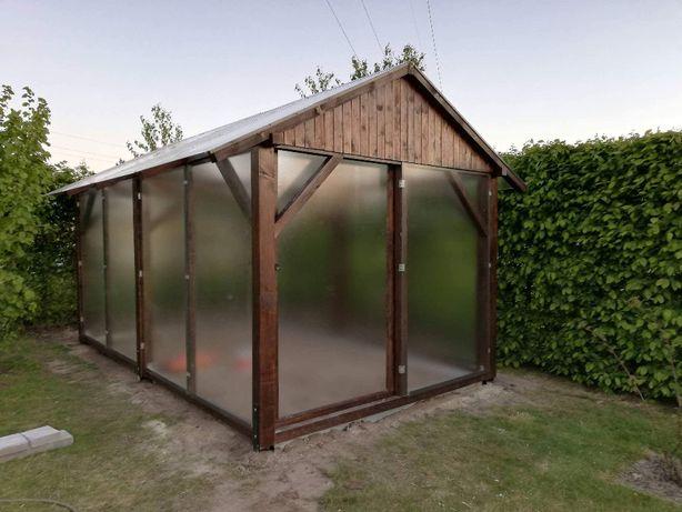 ekologiczna szklarnia drewniana - szkło hartowane