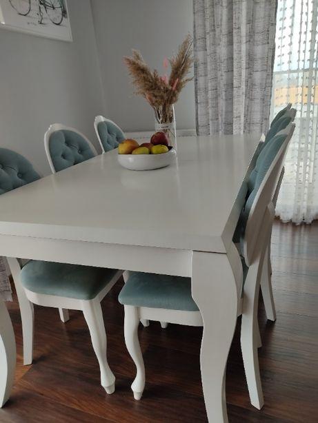 Stół w stylu prowansalskim+ 6 krzeseł