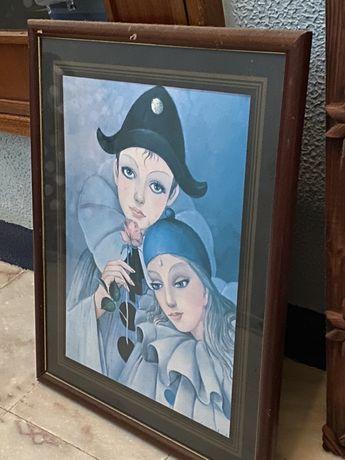 Quadro Pierrot antigo