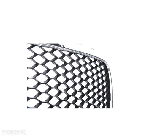 GRELHA FRONTAL AUDI A4 B7 LOOK RS PRETO/CROMADA