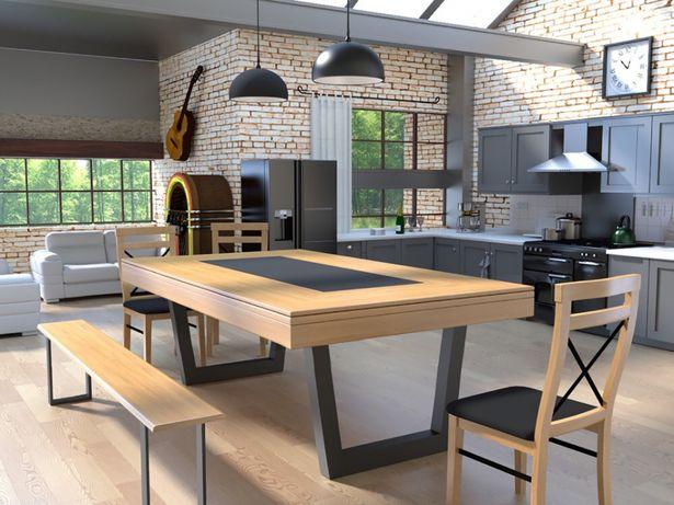 Bilhar europa fabricante Mod Rustin oferta tampo jantar