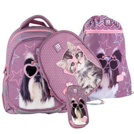 Школьный набор рюкзак + пенал + сумка Kite Studio Pets SP21-700M(2p)