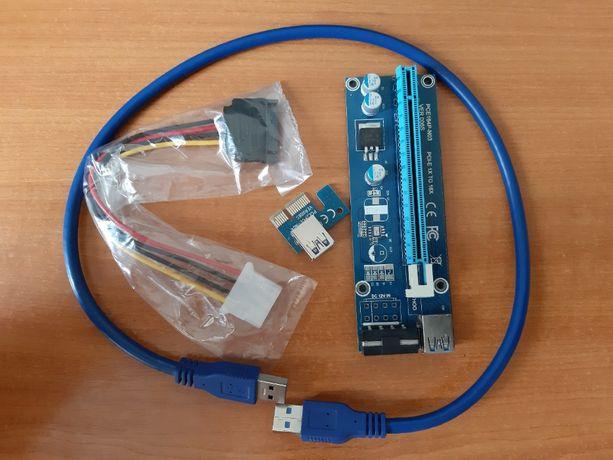 Райзер PCI-Express PCI-E 1X на 16X V006 Molex