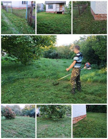 Покос травы. Заросшие участки не проблема. Скосить траву.