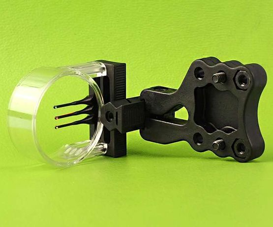 Celownik do łuku 3 pinowy światłowodowy łucznictwo łuk bloczkowy