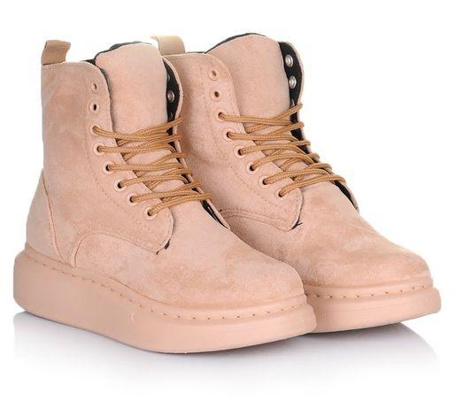 Бежевые женские ботинки кроссовки зимние зима 37 38 39 40 41