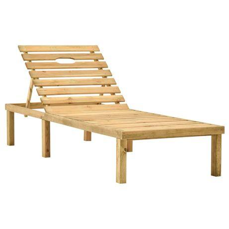vidaXL Espreguiçadeira de jardim madeira de pinho impregnada 315396