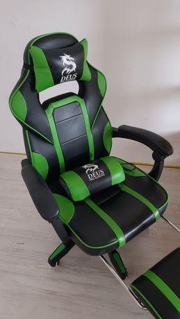 Fotel gameingowy zielony