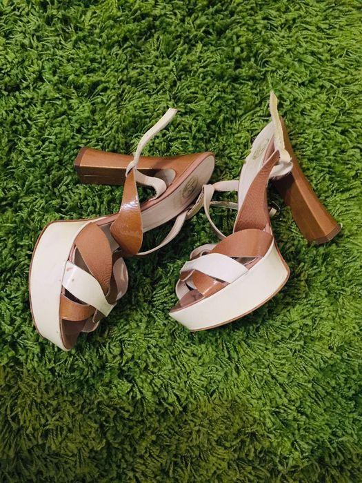 Босоніжки жіночі шкіряні , босоножки женские на каблуке Великая Березовица - изображение 1