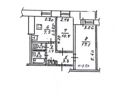 Продам 2 комнатную квартиру на ж/м Левобережный 3