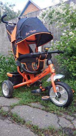 Детский трехколесный велосипед, коляска с ручкой (Best Trike)