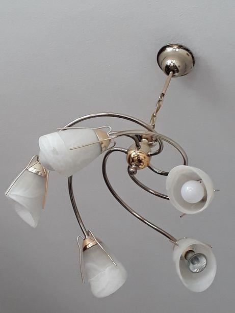 Piekna lampa sufitowa chromowana
