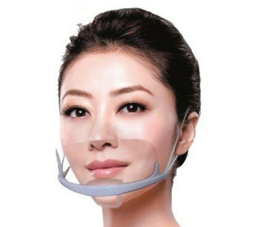 Пластиковая многоразовая защитная маска.