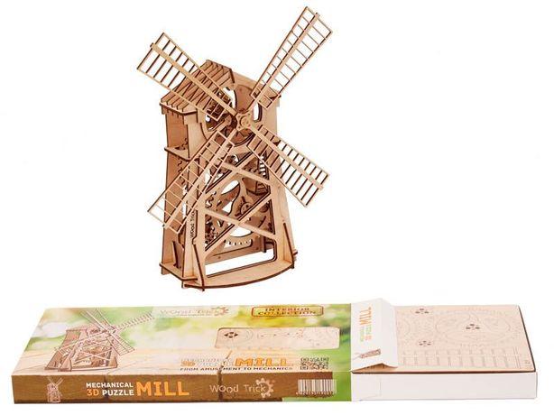 "3D пазл ""Мельница"" деревянный конструктор"