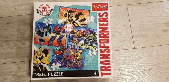 Trefl Puzzle 4w1 Transformers