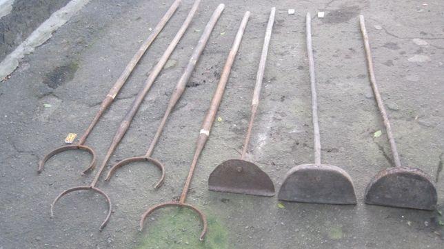 кухонна коцюба старина деревяна металева старовина