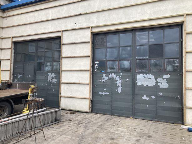 Brama garażowa z drzwiami i bez o wym 295x326 329x327 415x453