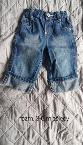 Spodenki jeansy dziecięce 3-6 miesięcy