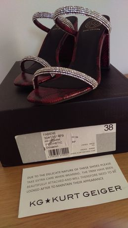 Sandały Kurt Geiger 38 cm red dark nowosc