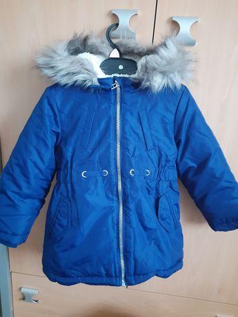Granatowa kurtka zimowa parka Endo 92 jak nowa