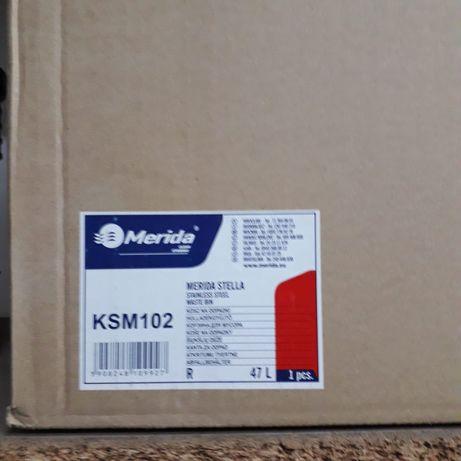Kosz na odpady Merida Stella KSM102 otwarty 47l stal matowa