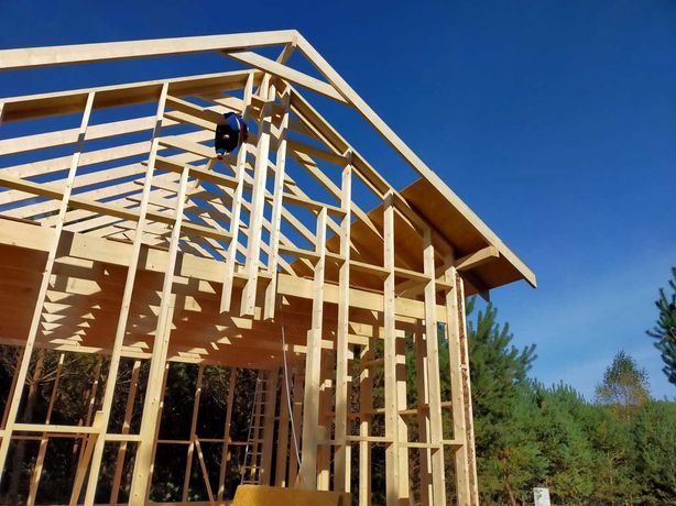 Konstrukcja szkielet domku domki domek letniskowy na zgłoszenie