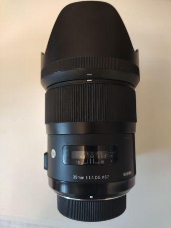 Sigma 35mm 1,4 DG. Nikon