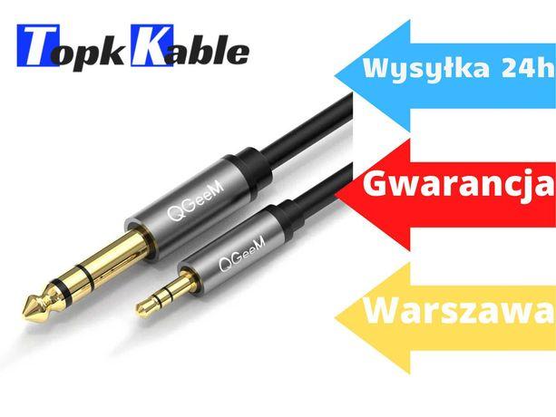 KABEL Aux Audio Mały Jack / Duży Jack 3.5 to 6.35