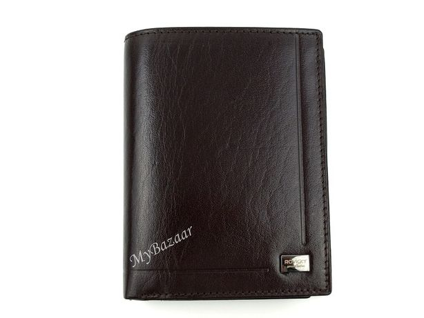 Elegancki męski, skórzany portfel ROVICKY PC105-BAR brązowy