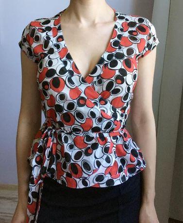 Wzorzysta bluzka Orsay, rozm. 34 (XS), kropki, do biura, biznesowa