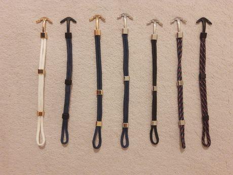 Pulseiras Black-Silver-Gold Anchor/Neptune Rope/Anchor Skin/Whale