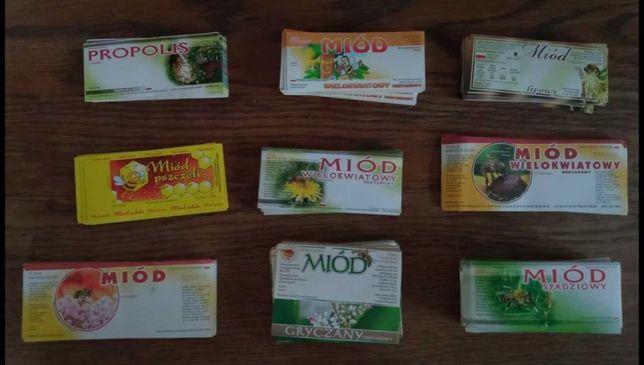 Sprzedam etykiety naklejki  na miód