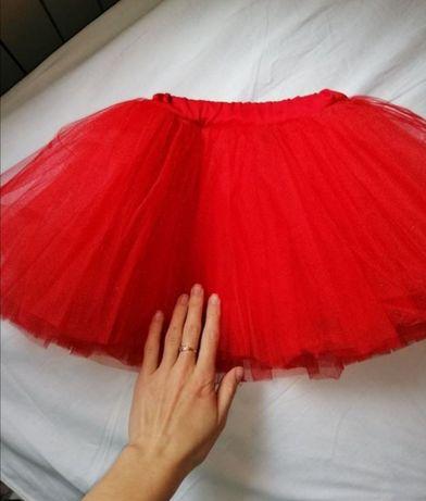 Фатиновая красная юбочка