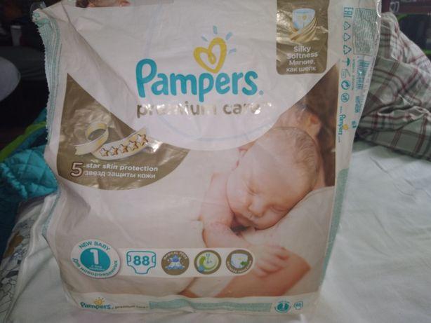 Подгузники Pampers premium care размер 1, 2-5 кг, 30 шт